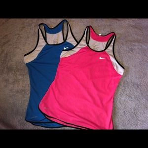 NIKE Dri-Fit Blue and Pink Shirt